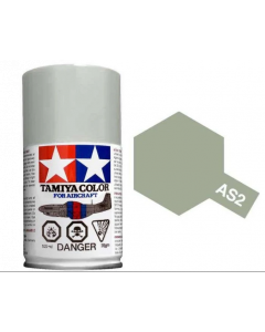 Tamiya AS-2 Light Grey (IJN) 100ml Spray Paint for Scale Models - 86502