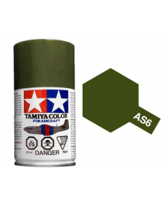 Tamiya AS-6 Oilve Drab (USAAF) 100ml Spray Paint for Scale Models - 86506