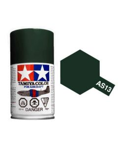 Tamiya AS-13 Green (USAF) 100ml Spray Paint for Scale Models - 86513