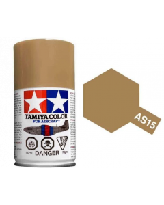 Tamiya AS-15 Tan (USAF) 100ml Spray Paint for Scale Models - 86515