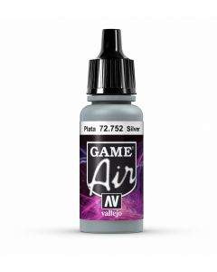 Vallejo Game Air 17ml- Silver  - 72.752
