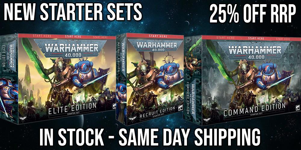 New Warhammer 40k 40,000 Starter Sets